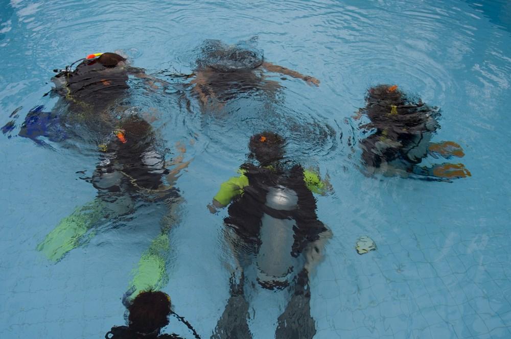 Atmen unter Wasser funktioniert schon
