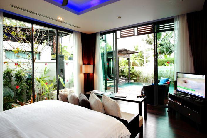 Pool-Villa Schlafzimmer