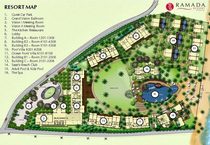 Resort-Lageplan