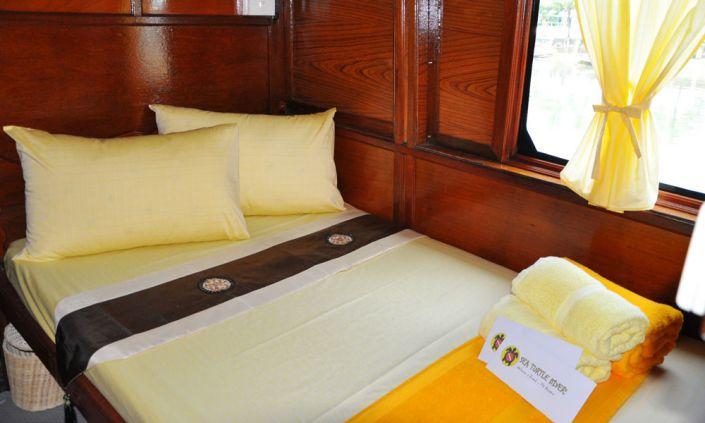 Tauchschiff MV Amapon Doppelbett Kabine