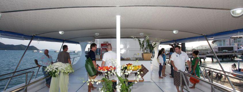 Tauchschiff MV Pawara Essbereich