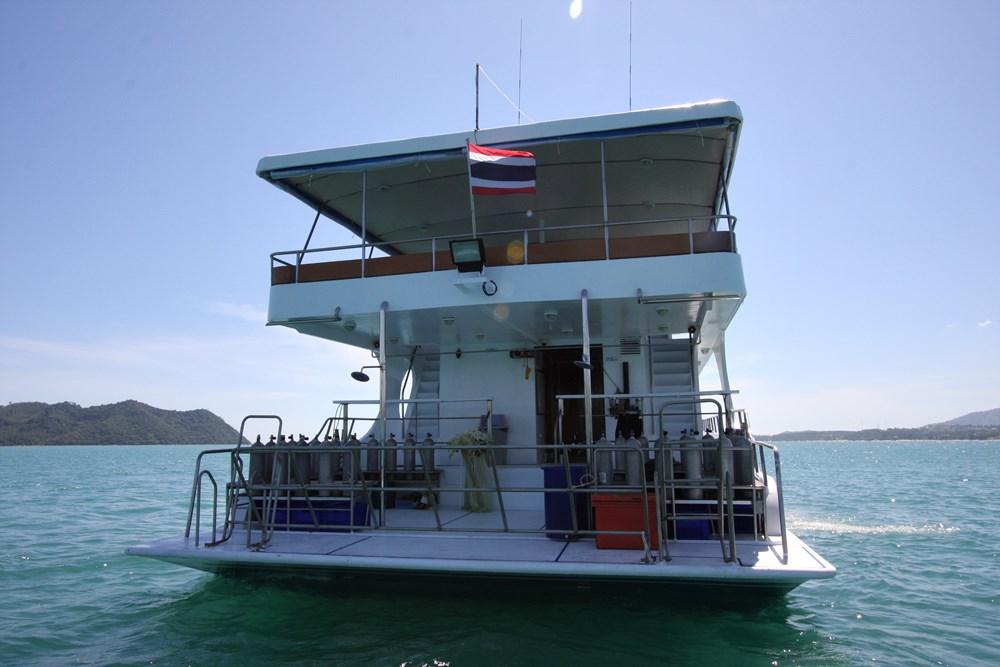 Tauchschiff MV Pawara Tauchdeck