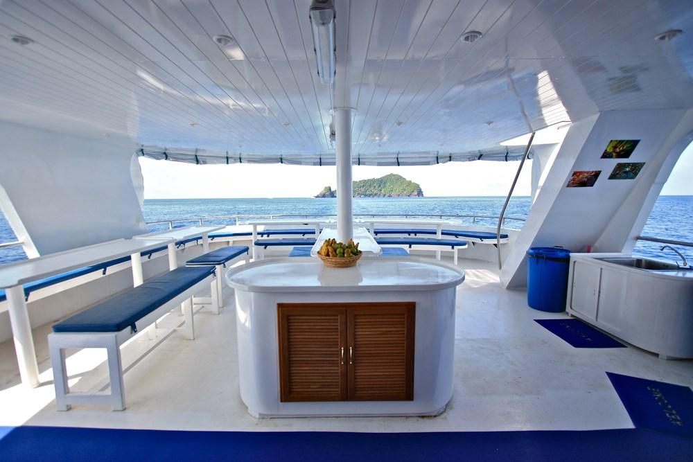 Tauchschiff Manta Queen 3 Essensbereich