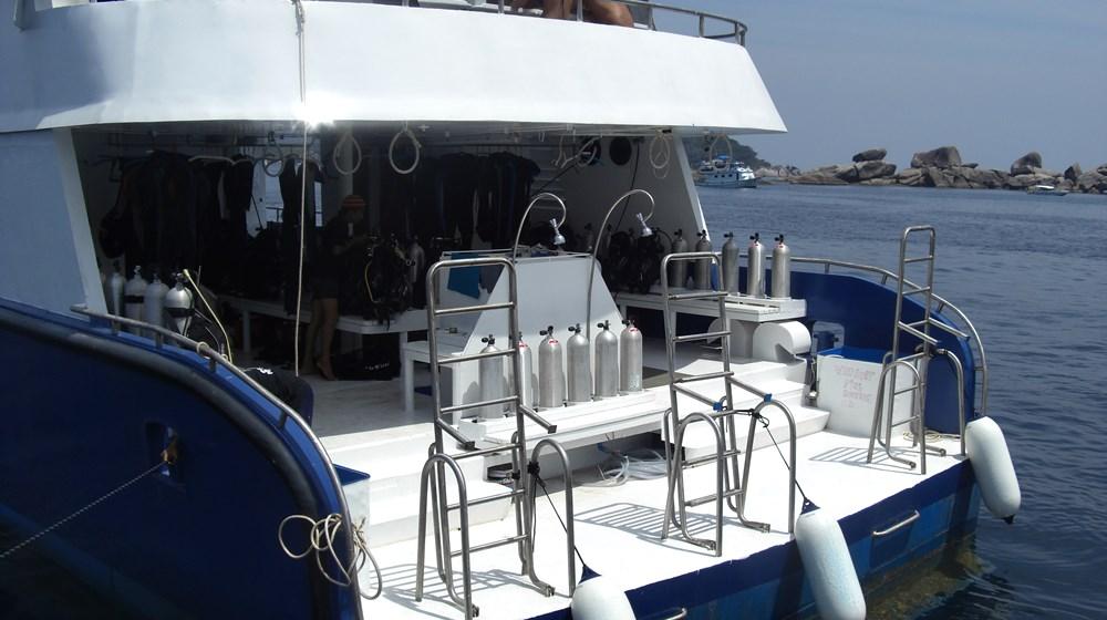 Tauchschiff Manta Queen 3 Tauchdeck