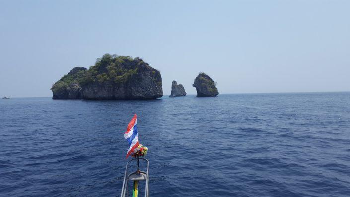 Mit dem Tauchschiff Choksomboon vor Ko Lanta