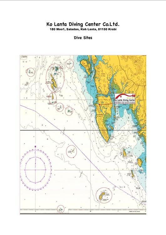Ko Lanta Diving Center Dive Sites