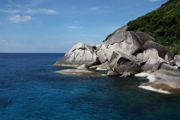 Granitfelsformationen auf den Similan Islands