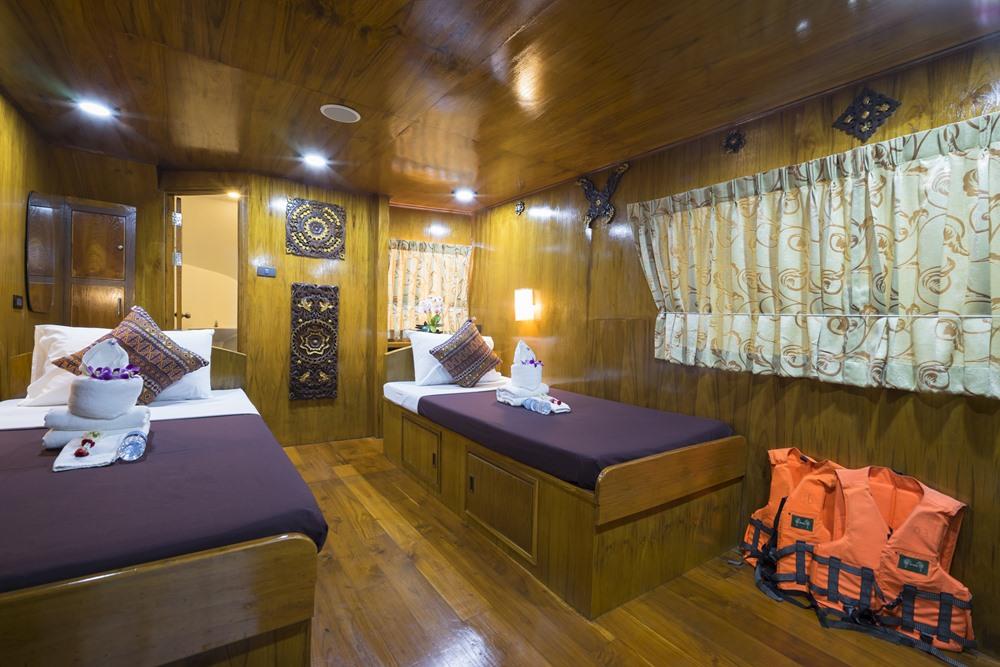 Tauchschiff MV Sawasdee Fasai Master-Kabine separates Bett