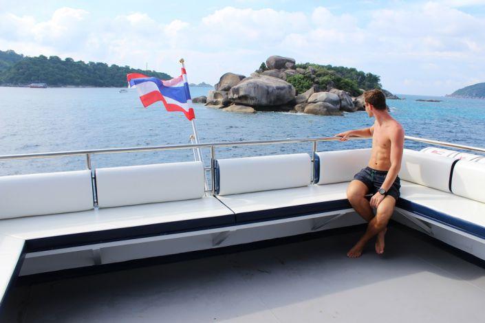 Sonnendeck der MV Bavaria