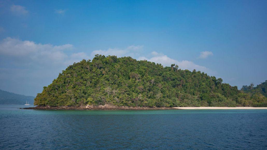 Insel im Mergui Archipelago, Myanmar